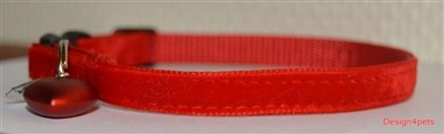 red velvet cat collar