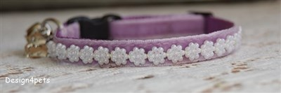 lavender breakaway unique handmade pearl cat collar