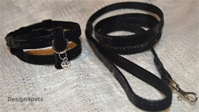 velvet cat harness and leash set